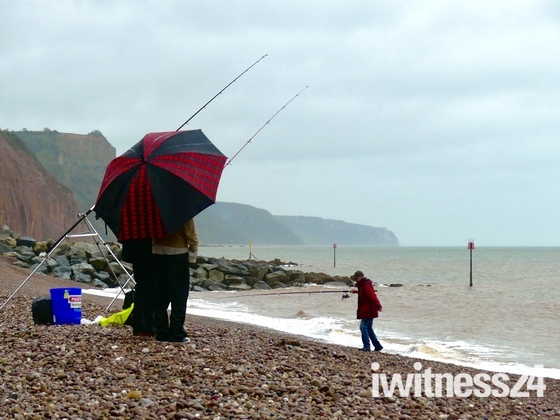 Fishing from the beach