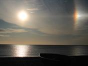 Sunrise over Dunwich Beach