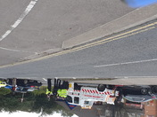 Accident at Clover Court Roundabout