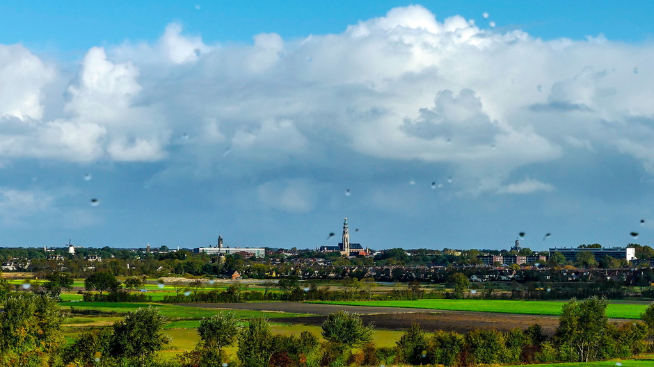 Regenbuien Felle opklaringen Stapelwolken