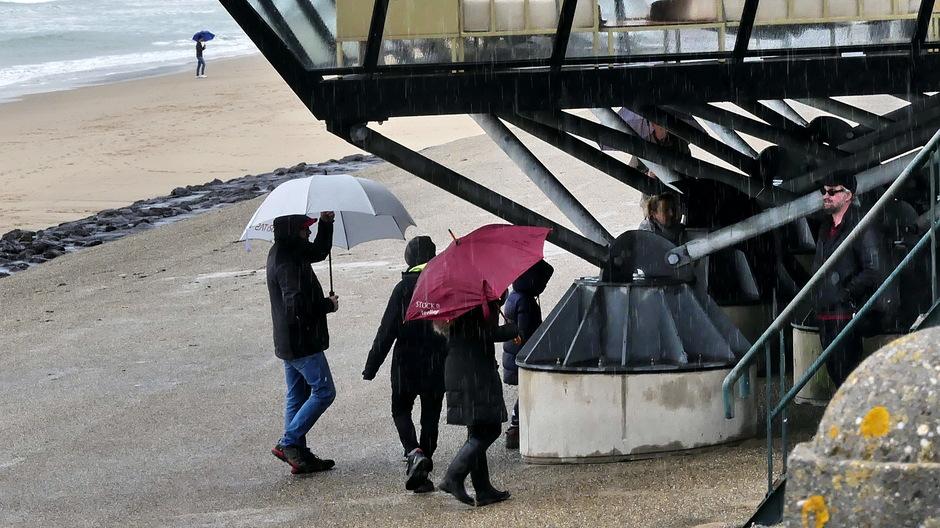 Schuilen voor een regenbuitje