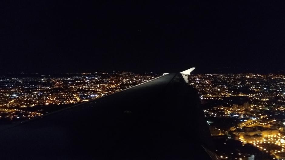 Porto van boven vanuit het vliegtuig