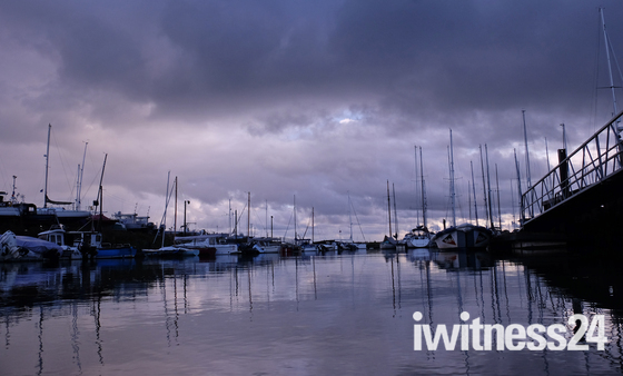 Big moody skies at Levington Marina