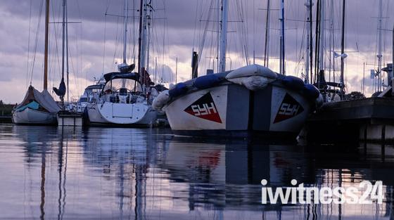 Big moody skies at Levington Marina