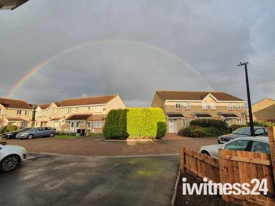 Rainbow over Bailey close