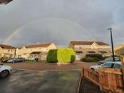 Rainbow over Bailey close