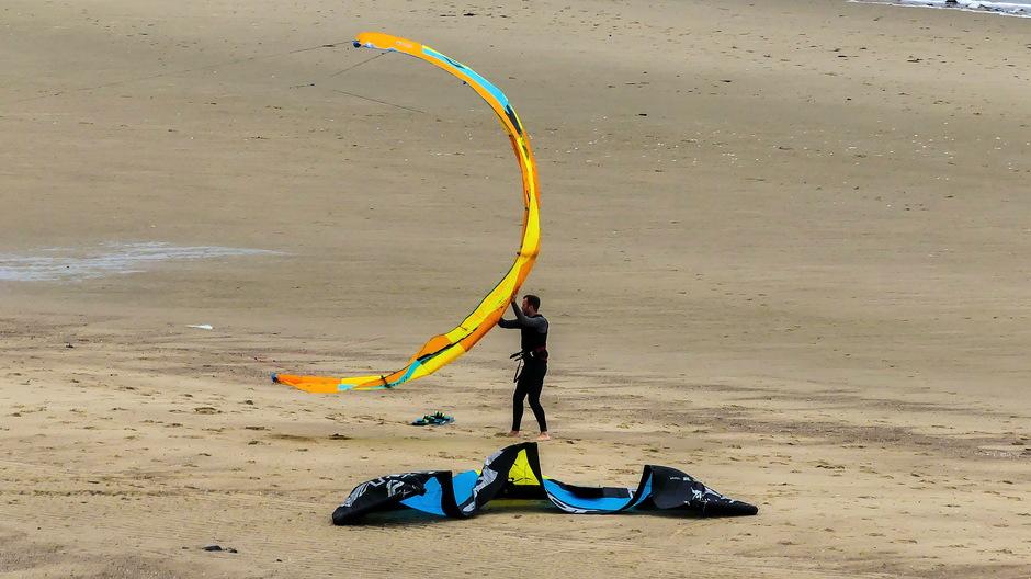 Aantrekende wind ideaal weer voor kitesurfers