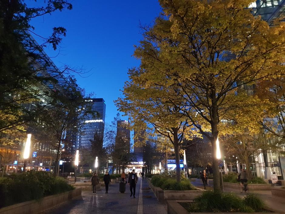 7.45 uur. Mooi sfeertje op Zuid WTC