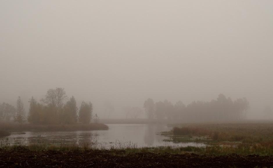 Dichte mist vanochtend in Twente!