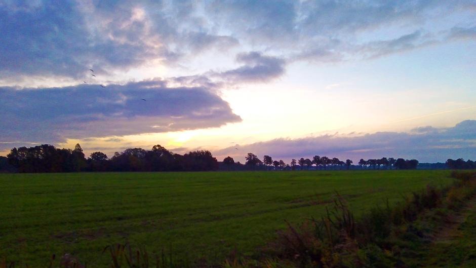 Zonsopkomst boven zuidwest-Drenthe