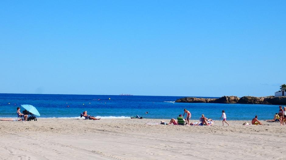 Strand vanmiddag