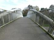 This is the bridge that crosses the dock spur road in Felixstowe