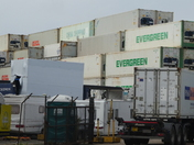 At tghe end of the lane is this container depot