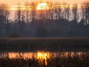 Beautiful sunset at Minsmere