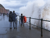 Sidmouth seafront after Autumn storm