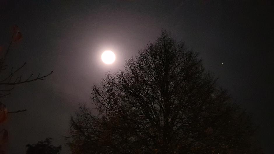 Volle maan met Mars