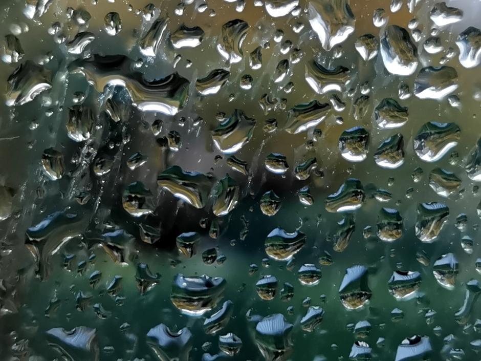 Een regenbuitje om 7:45 in de betuwe