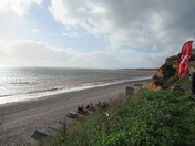 Budleigh Salterton beach from the SW cliff footpath