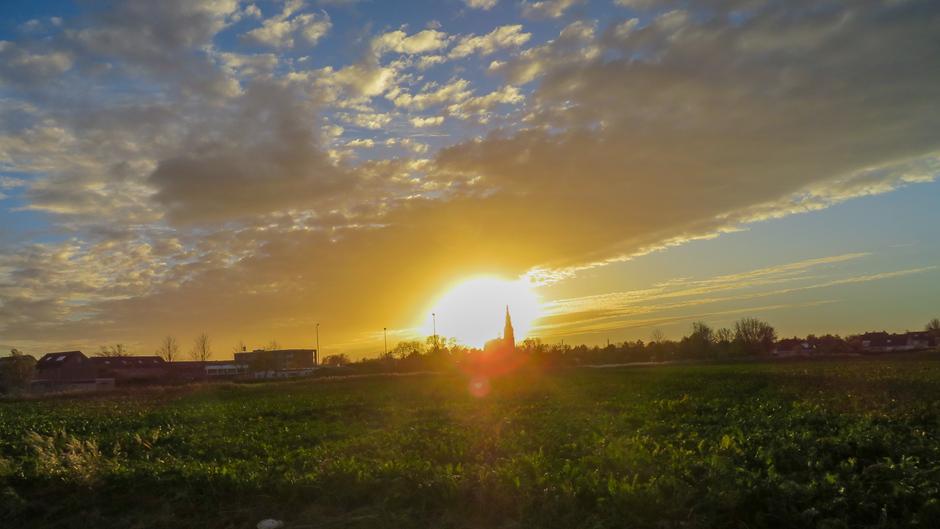 Kerk in de zon