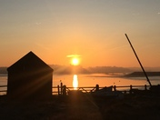 Sunrise on the river Deben Woodbridge