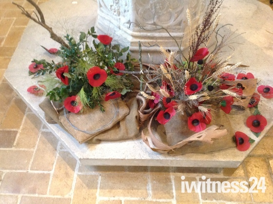 Remembrance displays in Kersey Church