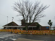 Harbour View Cafe in amangst the roadworks