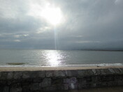 Sun shines on the sea, from Exmouth beach