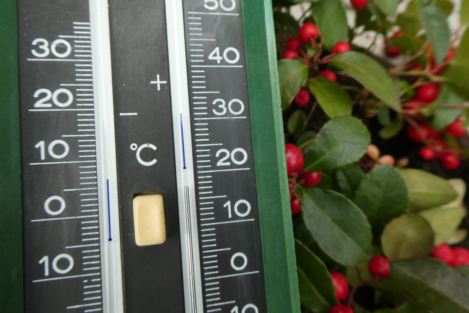 Maar liefst 17,2 graden
