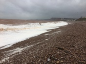 The 'calm' at Exmouth before the 'storm' at Budleigh