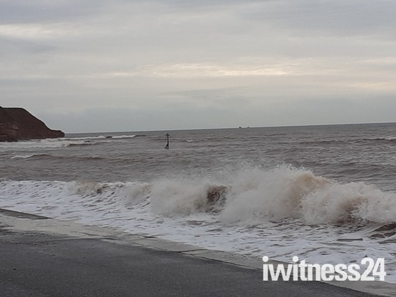 A rough November sea