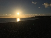 Late Autumn sunset at Budleigh