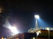 Ipswich Town floodlights over Portman Road.