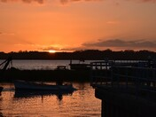 Levington Marina at Sunset
