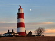 Moon by happisburgh lighthouse