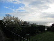 A sunny afternoon breathing sea view of Exmouth sea-front from Louisa Terrace