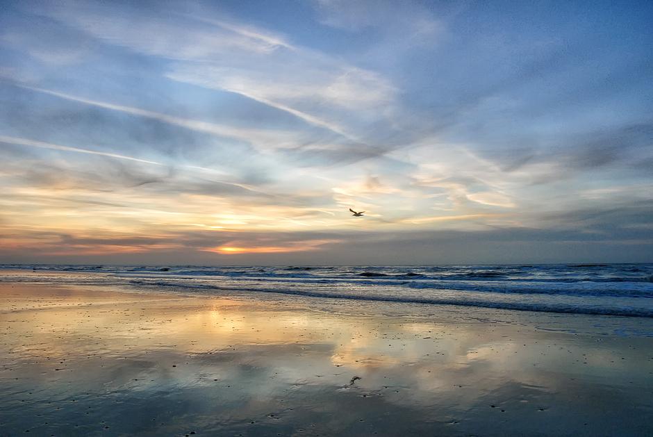 Bob Ross sunset
