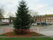 Christmas tree up in Exmouth Strand