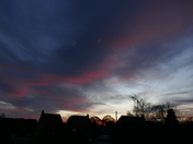PROJ 52, BLUE, BLUE SKY AS THE SUN SETS AT HEMPTON