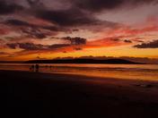 sunset weston beach
