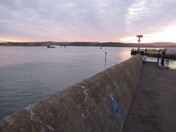 A view from the Exmouth sea-wall by Mamhead Slipway after sunset Thursday 26th November 2020