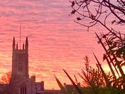 Dramatic sunset 26 November