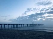 Lowestoft beach at sunrise