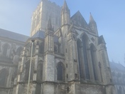 Fog around the Cathedral of st. John the Baptist