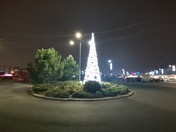 Christmas Tree shining bright at Gallions Reach Shopping Park in Beckton