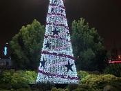 Christmas Tree shining bright at Gallions Reach Shopping Park in Beckton