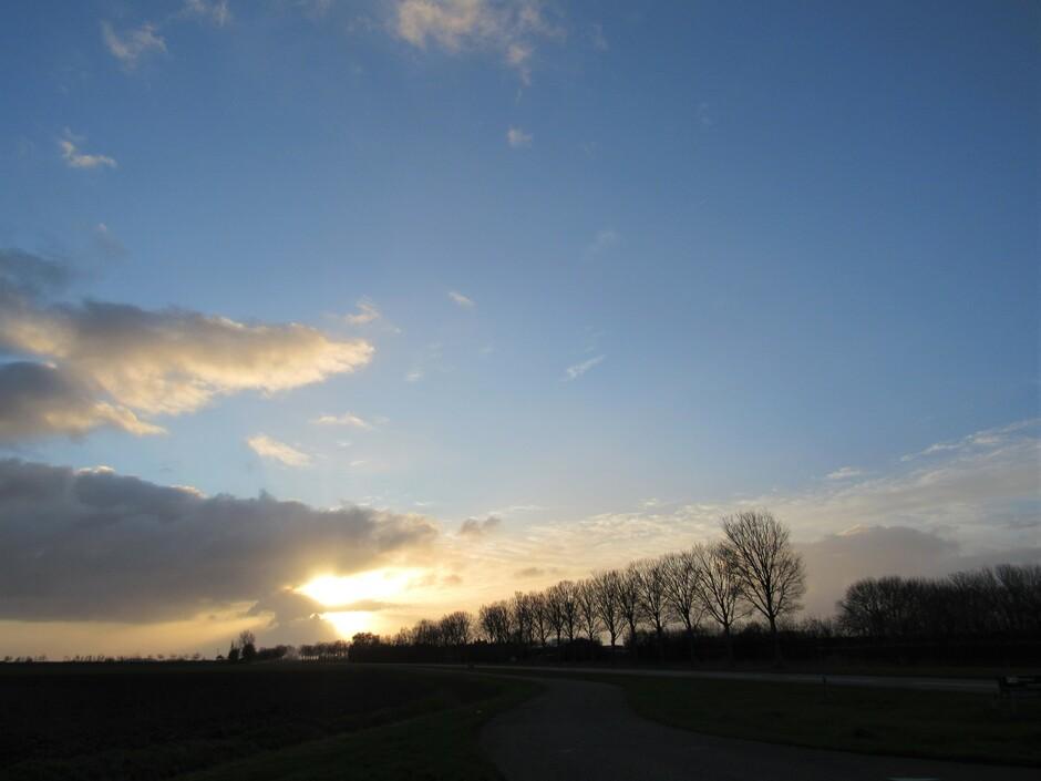 Voor zonsondergang vanmiddag