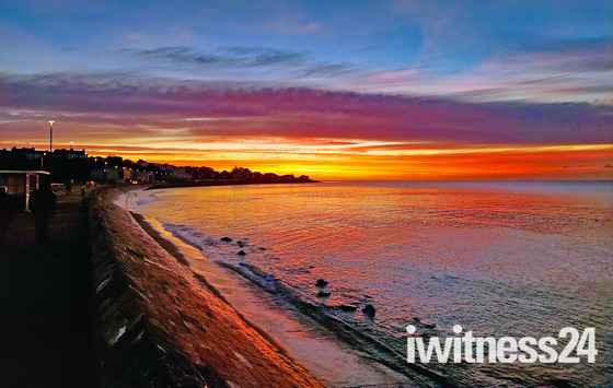 Sunrise on Exmouth Seafront