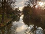 Winters day Riverside walk in norwich