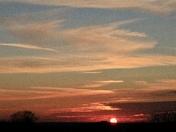 Sunset over Lowestoft