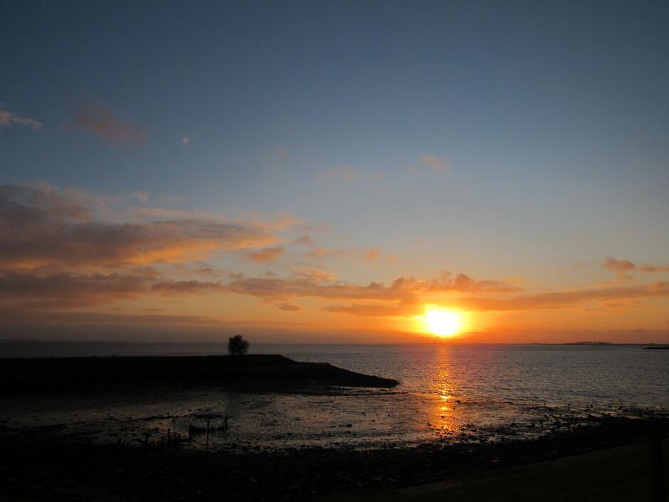Fraaie zonsopkomst vanmorgen